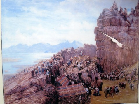 Pintura que muestra una Asamblea en a Roca de la Ley
